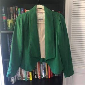 Anthropologie Emerald Green Blazer